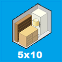the size and contents held by 5 x 10 storage unit