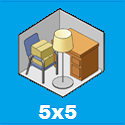 picture showing how much contents can be held in a storage unit 5x5